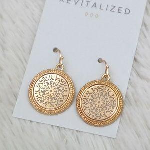 Round Gold Filigree Earrings